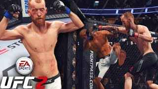 Paddy Holohan Fighting The Lag! Getting Outclassed In Flyweight! EA Sports UFC 2 Online Gameplay