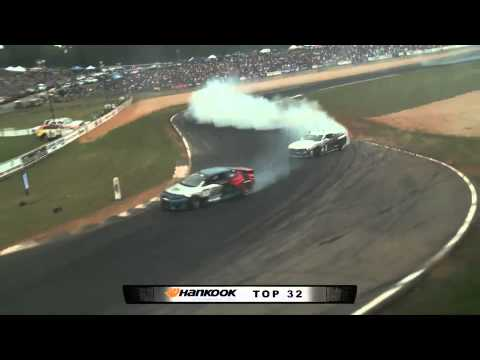 CONRAD GRUNEWALD  vs TONY ANGELO    During Top 32 in Atlanta Formula Drift Round 2 (2012)