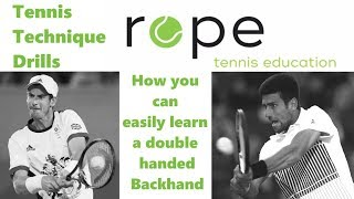 Tennis Technique Drills - Windshield Wiper double-handed Backhand  Progression