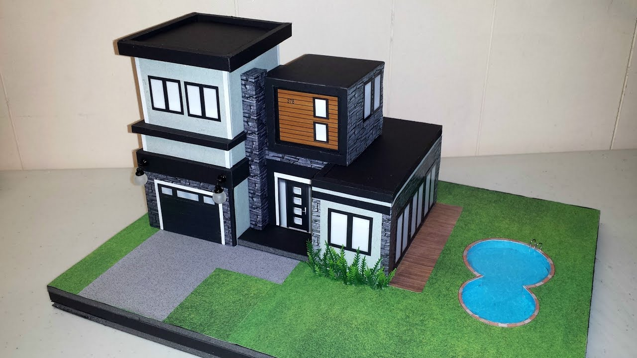 How to make a miniature modern house not a kit
