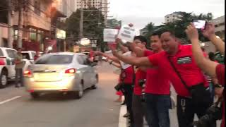 ABS-CBN workers and supporters honk for Press Freedom