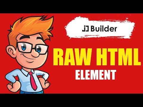 Raw HTML Element - How To Use Raw HTML Element In JD Builder