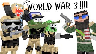 Monster School : WORLD WAR 3 CHALLENGE - Minecraft Animation