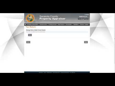 Tangible Personal Property E-File Tutorial
