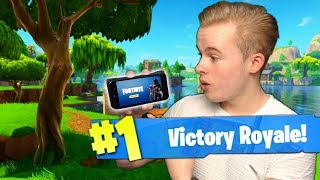 *NEW* FORTNITE OP DE TELEFOON, SOLO WIN!! - Fortnite Battle Royale (Nederlands)