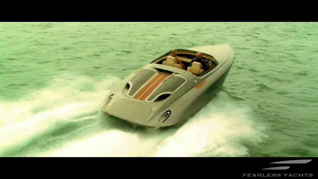 fearless yachts by porsche design luxury speed boat. Black Bedroom Furniture Sets. Home Design Ideas