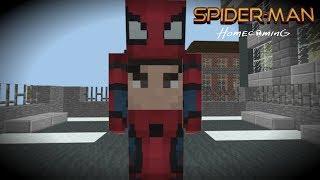 Minecraft: Spider-Man Basic Test Effect