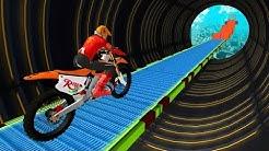 SUPER BIKER SKY TRACK RIDER GAME - Dirt Motor Bike Racing Games For Children - Kids Games Download