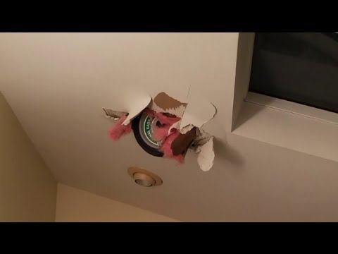 C-Rob Blog (58472) - Helicopter Wheel Crashes Through Roof
