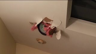 Helicopter wheel crashes through roof of suburban Chicago home