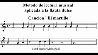 el martillo Metodo de lectura musical aplicada a la flauta dulce