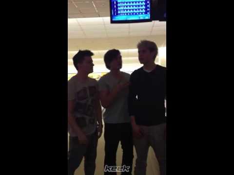 Niall Horan, Josh Devine and Joey Cottle singing bohemian rhapsody!