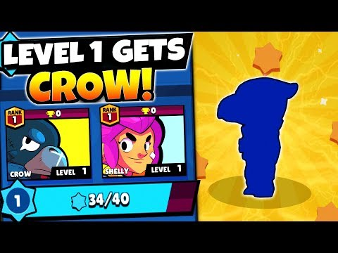 LEVEL 1 FIRST BRAWLERS UNLOCKED GETS LEGENDARY CROW! | Brawl Stars BEST MEGA BRAWL BOX OPENING EVER!