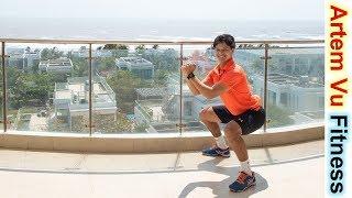 Bodyweight Leg Workout For Beginners 5 minutes a day artemfitness
