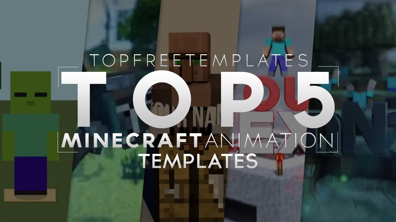 Best Top 5 Free 3d Animated Minecraft Intro Templates 2015 Youtube