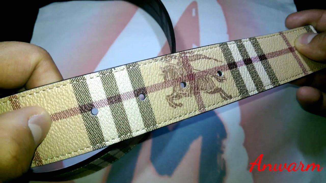 How to Spot Fake Burberry Belt - YouTube 019b09e45fa
