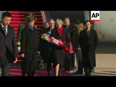 British PM May arrives in China for three-day trade visit