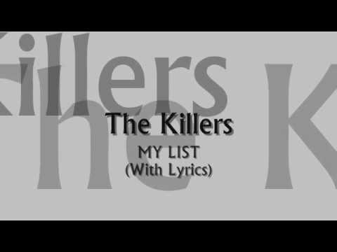 The Killers - My List (With Lyrics)