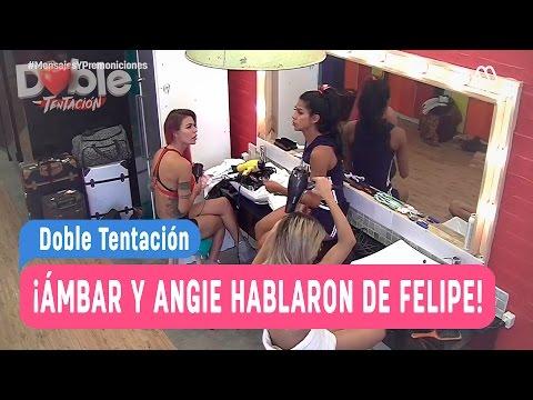 Doble Tentación - ¡Ámbar y Angie hablaron de Felipe! / Capítulo 63