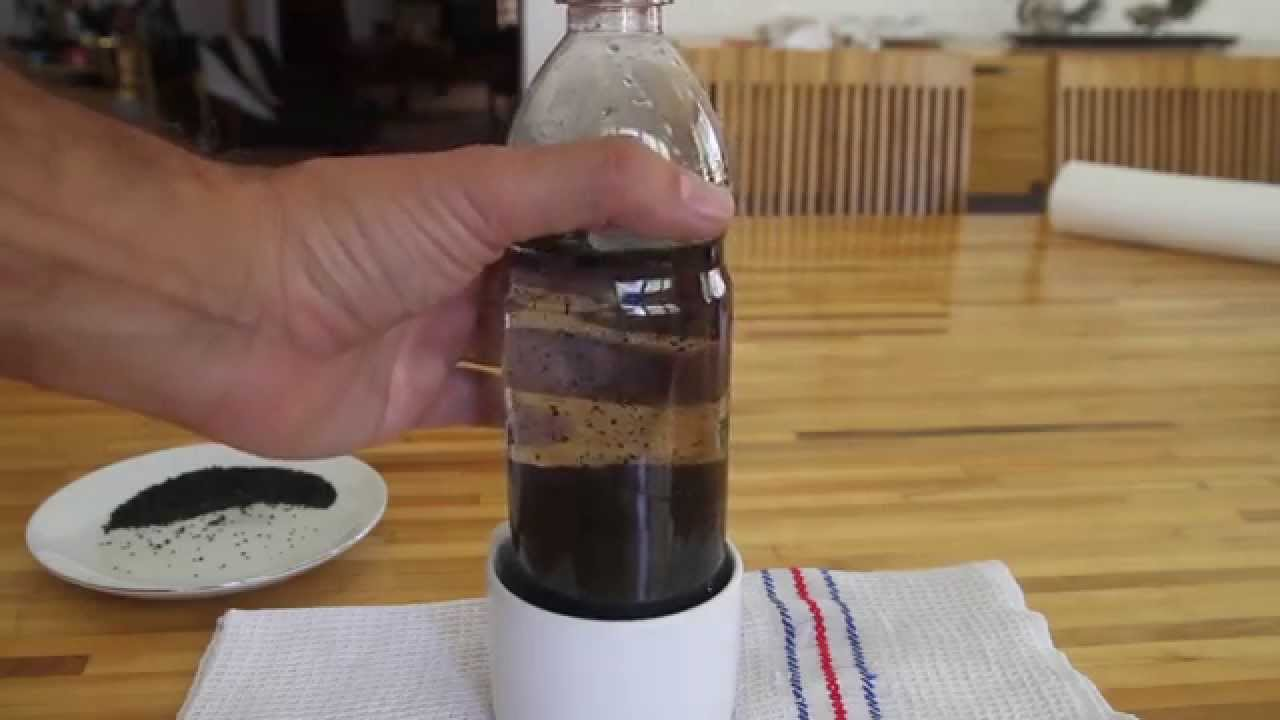 1 Diy Water Filter In A Bottle Youtube