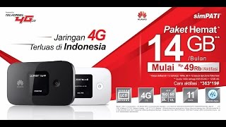 Mifi Router HUAWEI E5577 Speed 4G LTE JUMPER Bundling Telkomsel 14GB Selama Setahun (Unlock Version)