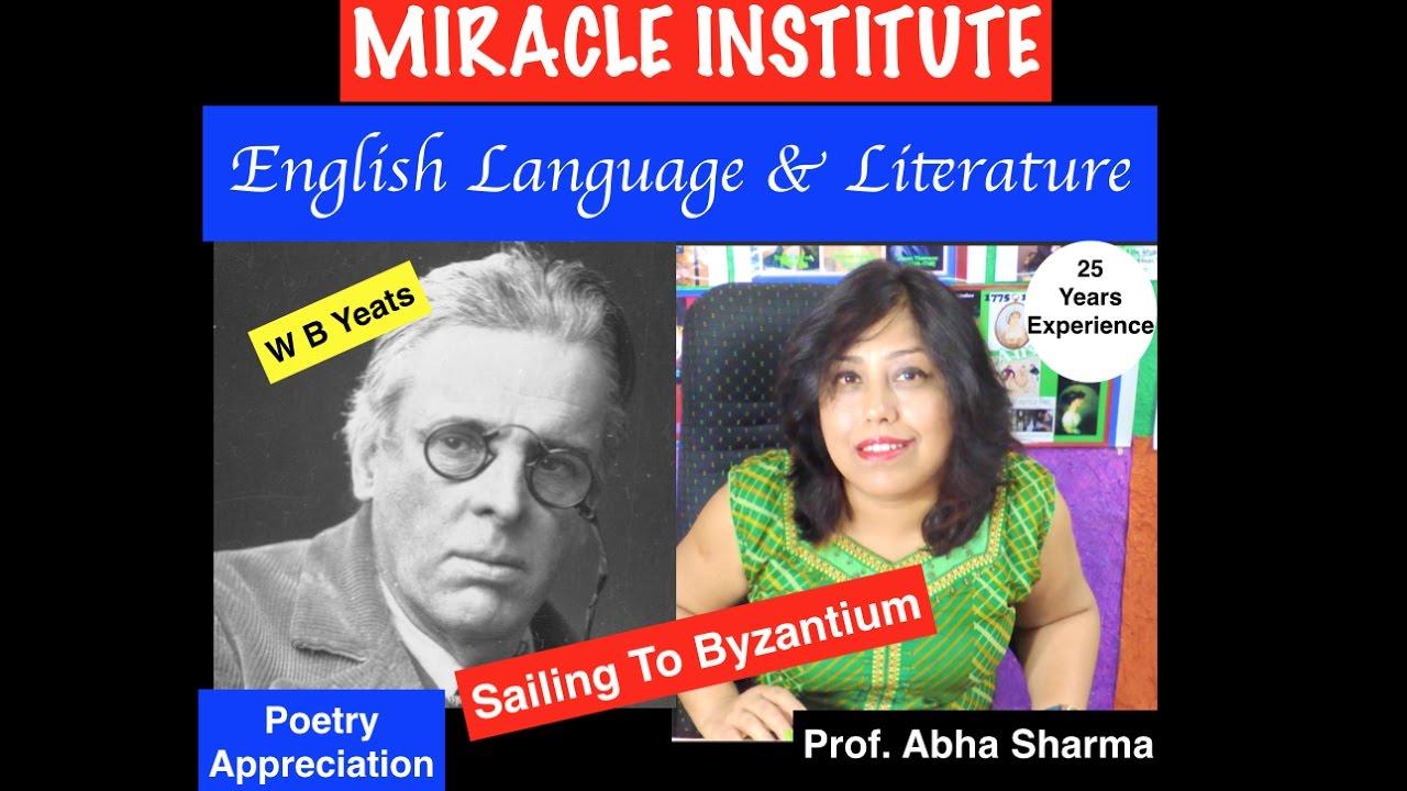 W B Yeat Sailing To Byzantium Poem Summary Analysi Youtube Paraphrase