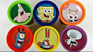SPONGEBOB Squarepants Playdoh Toy Surprises with Patrick, Sandy, Mr. Krabs