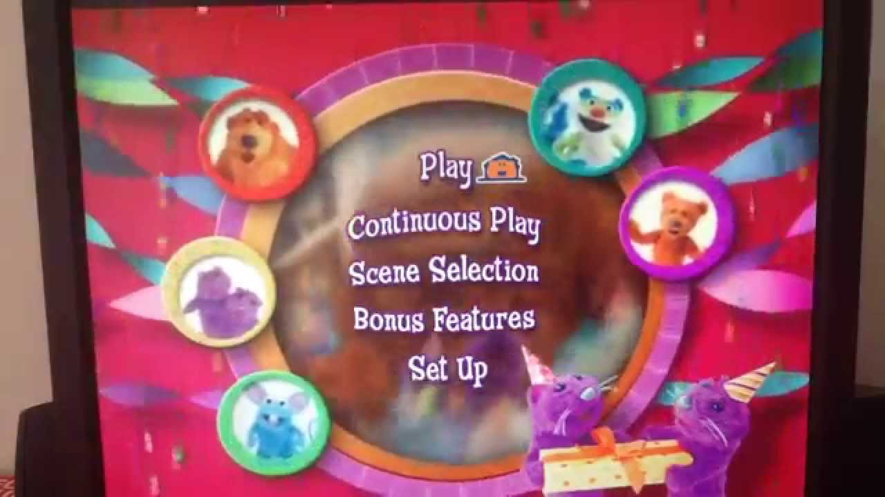 bear in the big blue house dvd menu walkthrough youtube