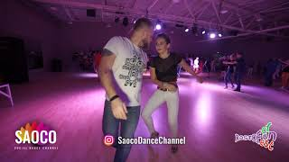 Andrey Bryukhovskikh and Valeriya Lebedeva Salsa Dancing at Rostov For Fun Fest, Sun 04.11.2018 (SC)