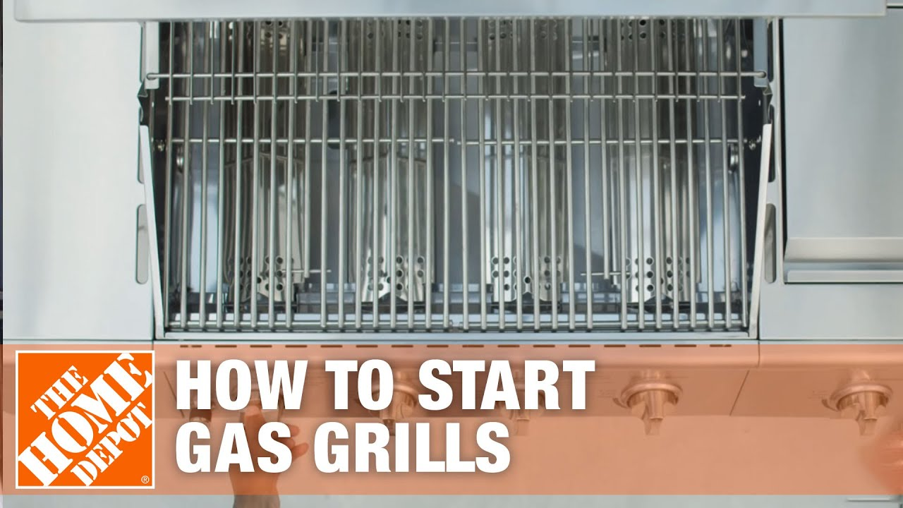 How To Start A Gas Grill The Home Depot