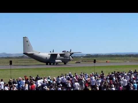 Crazy Military Pilot- C27-J Spartan AVALON AIRSHOW 2011