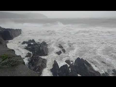 Hurricane Ophelia Footage - Youghal, Co. Cork, Ireland - 16/10/2017