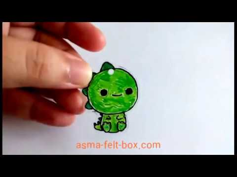 Making Cute Dinosaur Pendant from Plastic Shrink Craft