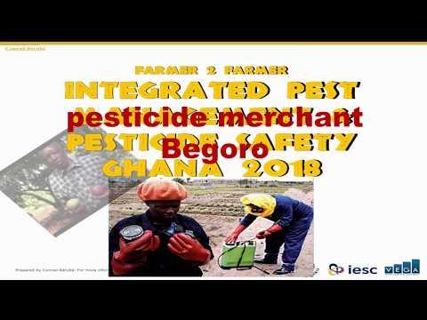 2018 Farmer-to-Farmer: pesticide merchant in Begoro, Ghana