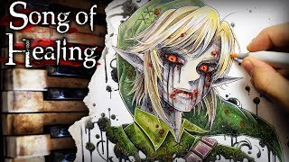 Song of Healing u0026 Unhealing (Majora's Mask) + Ben Drowned Creepypasta Drawing