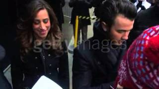 Kevin and Danielle Jonas at the 'Good Morning America' studio