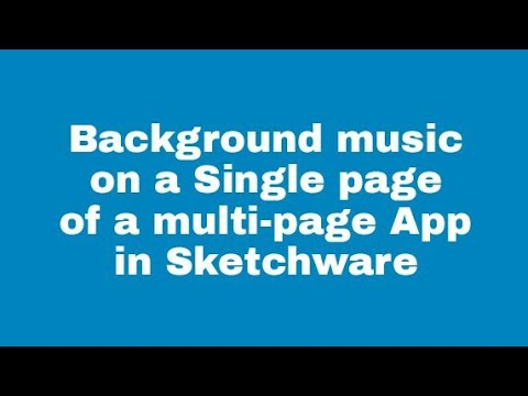 Add background sound to Single page of a multi screen App