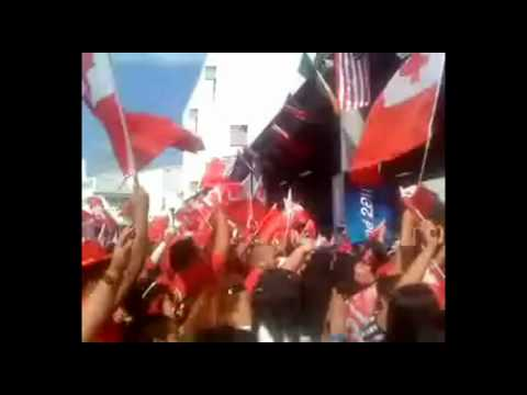 RWC 2011 Opening Ceremony  Queen Street Nek Minnit Tonga.avi