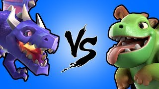 BABY DRAGONS VS DRAGONS (CLASH OF CLANS)