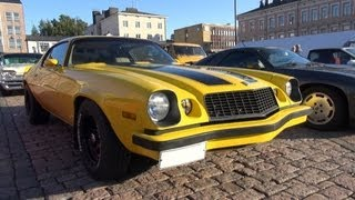 1977 Bumblebee Camaro - startup and V8 sound!
