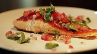 Seared Salmon w/ Tomato Basil
