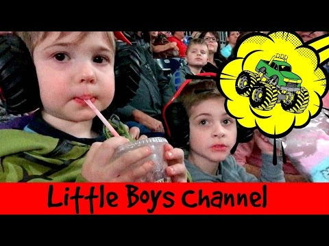 Little Boys go to Monster Jam | Grave Digger Max-D Truck