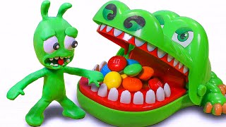 PEA PEA vs Crocodile Dentist CHALLENGE (Fanmade video) | Stop Motion Funny Cartoons