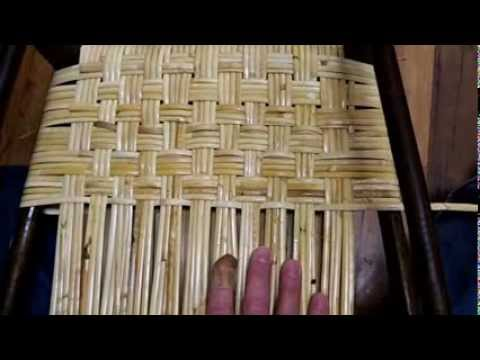 How to Weave Wide Binding Cane in the Herringbone Pattern