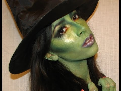 Halloween Makeup Witch Oz the Great and Poqerful - YouTube