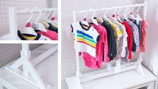 Make an AWESOME Baby Clothes Rack - Easy DIY Organization Projects