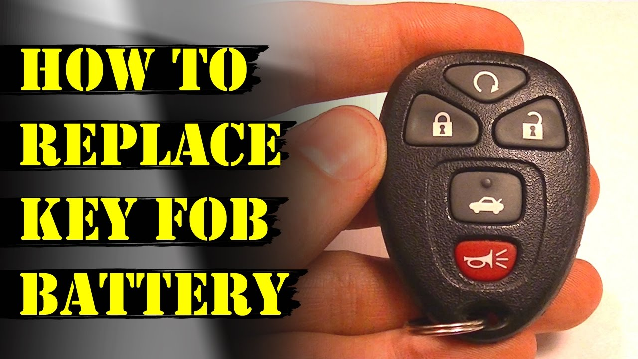 How to Replace Remote Key Fob Battery Chevy Malibu  GM  YouTube