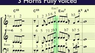 3 horn voicing tutorial