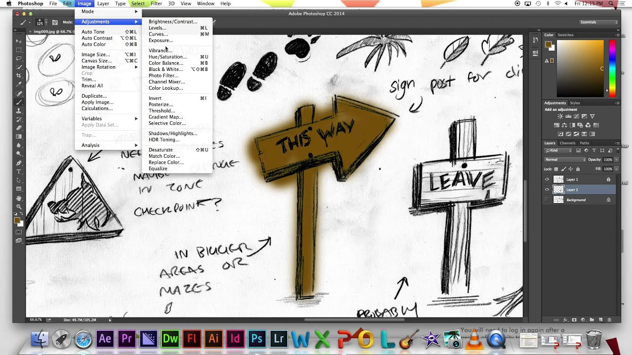 D Line Drawing Game : Live lesson adobe photoshop cc game concept art preparing scans