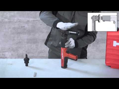 Hilti - How to put a magazine on your Hilti DX 351 (English)